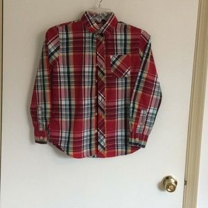 Child's flannel looking shirt 100% cotton